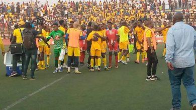 Photo de Lupopo porté par Dark Kabangu face à Lubumbashi Sport